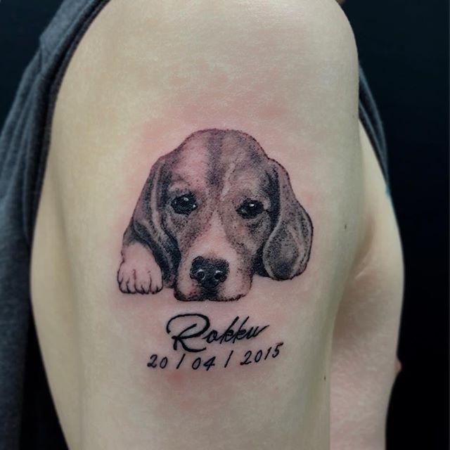 #beagle #ビーグル犬 ...#tattoo #reikotattoo #studiokeen #japan #nagoyatattoo #tokyotattoo #irezumi #タトゥー #刺青 #名古屋 #大須 #矢場町 #東京