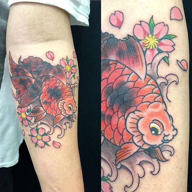 #goldfish #cherryblossom #金魚 #桜 ...#tattoo #reikotattoo #studiokeen #japan #nagoyatattoo #tokyotattoo #irezumi #タトゥー #刺青 #名古屋 #大須 #矢場町 #東京