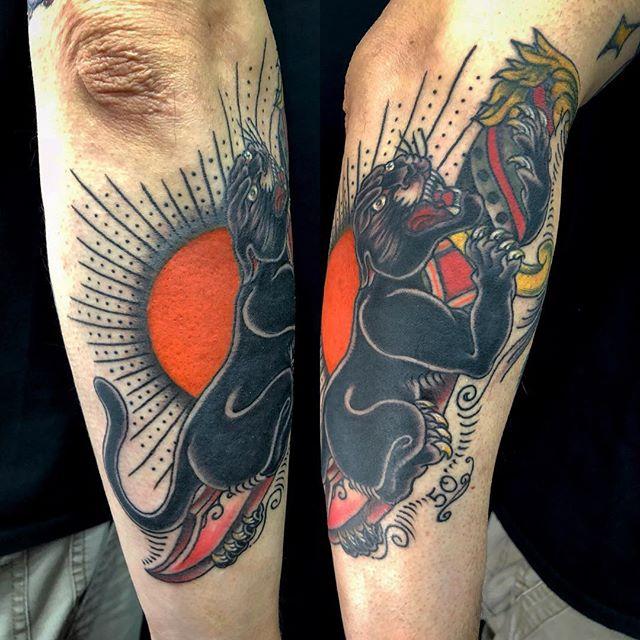 #パンサー #黒豹 #短刀 #panther #dagger ...#tattoo #reikotattoo #studiokeen #japan #nagoyatattoo #tokyotattoo #irezumi #タトゥー #刺青 #名古屋 #大須 #矢場町 #東京