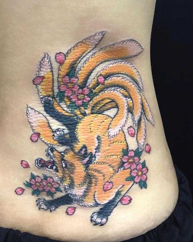 #ninetailfox #九尾の狐 ...#tattoo #reikotattoo #studiokeen #japan #nagoyatattoo #tokyotattoo #irezumi #タトゥー #刺青 #名古屋 #大須 #矢場町 #東京