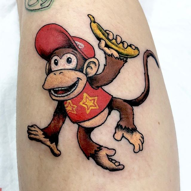 #DiddyKong #ディディーコング #キャラタトゥー...#tattoo #reikotattoo #studiokeen #japan #nagoyatattoo #tokyotattoo #irezumi #タトゥー #刺青 #名古屋 #大須 #矢場町 #東京