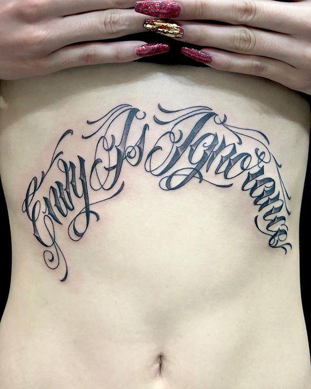 #レタリングタトゥー #envyisignorance ...#tattoo #reikotattoo #studiokeen #japan #nagoyatattoo #tokyotattoo #irezumi #タトゥー #刺青 #名古屋 #大須 #矢場町 #東京